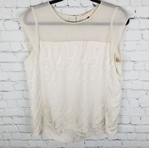 REBECCA TAYLOR   100% silk animal print blouse